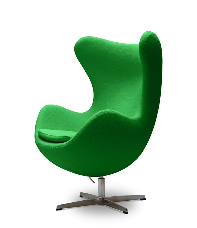 Pash living reproduction egg chair in green jwc for Arne jacobsen nachbau