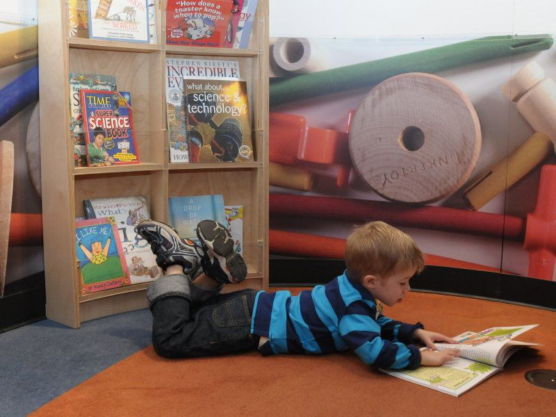 Reading in The Tinker Tank