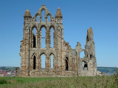 Whitby Abbey - Blue sky