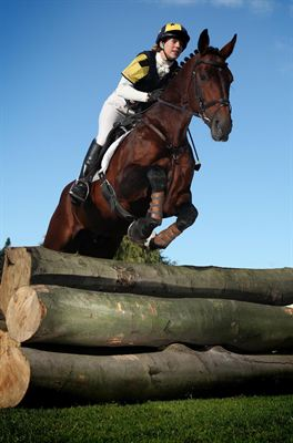 Lucy Thompson, with 8 year old Z Concord, trying out the new Show Cross course at the Great Yorkshire Showground in readiness for next months Countryside Live