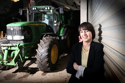Photo shows Tamara Hall, who has been awarded the Yorkshire Agricultural Society's Nuffield Scholarship for 2012/2013