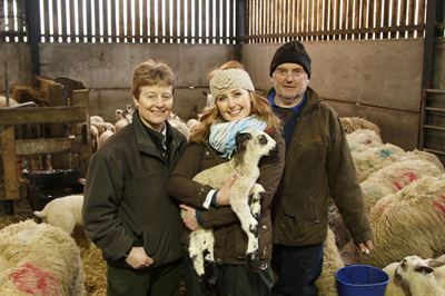 James and Diane Stenton and daughter Hannah, with some of their prize winning Blue Faced Leicester sheep, which are featured in the first episode of the 2013 Great Yorkshire Show video series