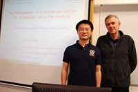 Dr Hu Lian left with David Giles Senior Lecturer in Engineering at Harper Adams