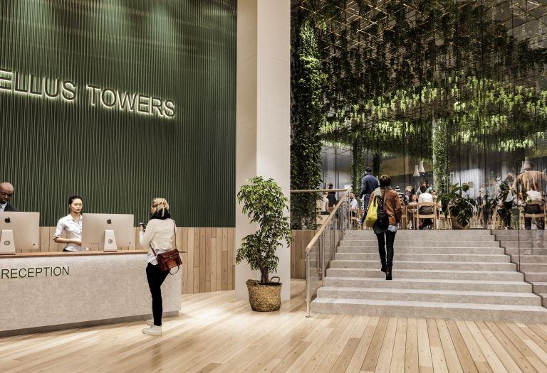 Tellus Towers lobby