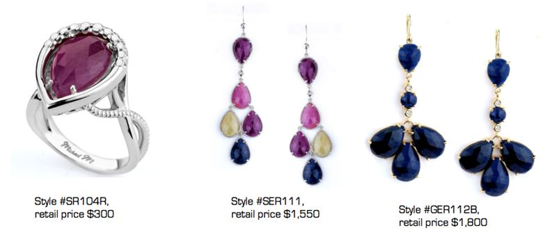 jewelry designer michael m launches colorful sapphire