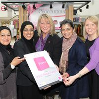Sophia Patel of Cupcakes and Cookies, Sabiha Patel of Simply Chocolicious, Loraine Jones, General Manager at The Mall Blackburn, Salma Chaudhry, business advisor at the Lancashire based Consortium of Enterprise Agencies and Samantha Butcher, Marketing Manager at The Mall Blackburn.