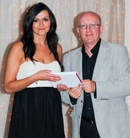 Sophia Wasiuta of MedicX Pharmacy Chorley receiving her Pharmacy Team Member of the Year Award