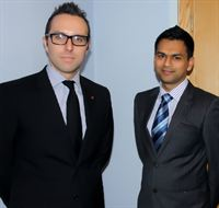 (L-R) Lawyers Chris Connor and Alum  Ullah