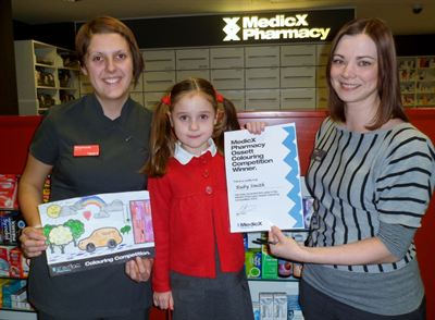 MedicX Pharmacy Ossett Colouring Competition winner