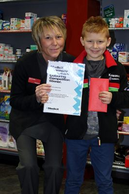 MedicX Pharmacy Rotherham colouring competition winner