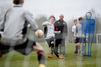 Ian Rush at a Welsh under 16s training session