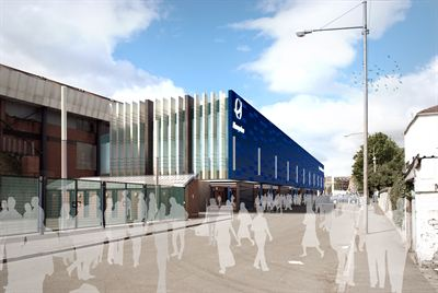 Visualisation of the new extension at the North Stand Concourse