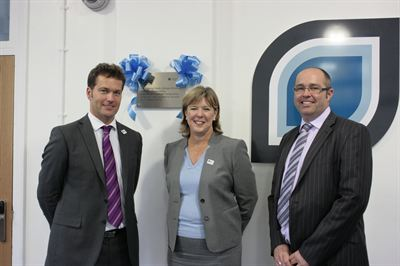 The official opening of the Midland Studio College (from L-R) – Andrew Crowter, Assistant Principal, Facilities Management, Marion Plant OBE, Principal of North Warwickshire & Hinckley College and ISG