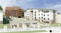 The three accommodation blocks will be built into the landscape in a terraced arrangement
