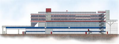 Visualisation of the upgraded Port of Dover terminal building