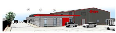 Visualisation of the new E.ON facility in Grimsby