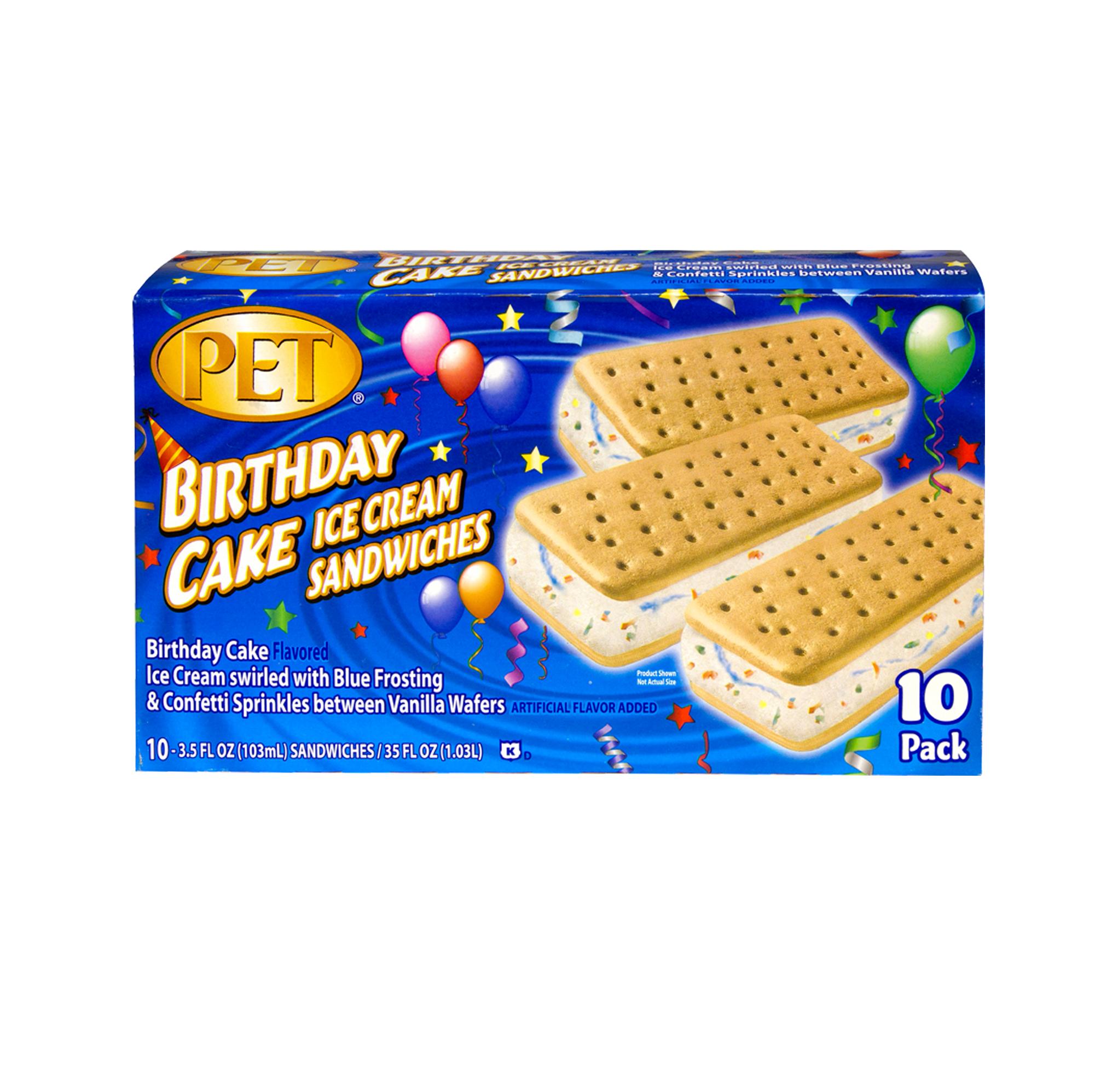 PET Dairy Birthday Cake Sandwiches PET Dairy