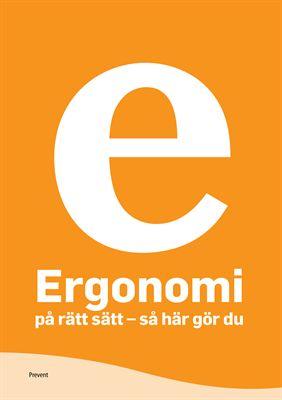 Omslag Ergonomi på rätt sätt - så här gör du