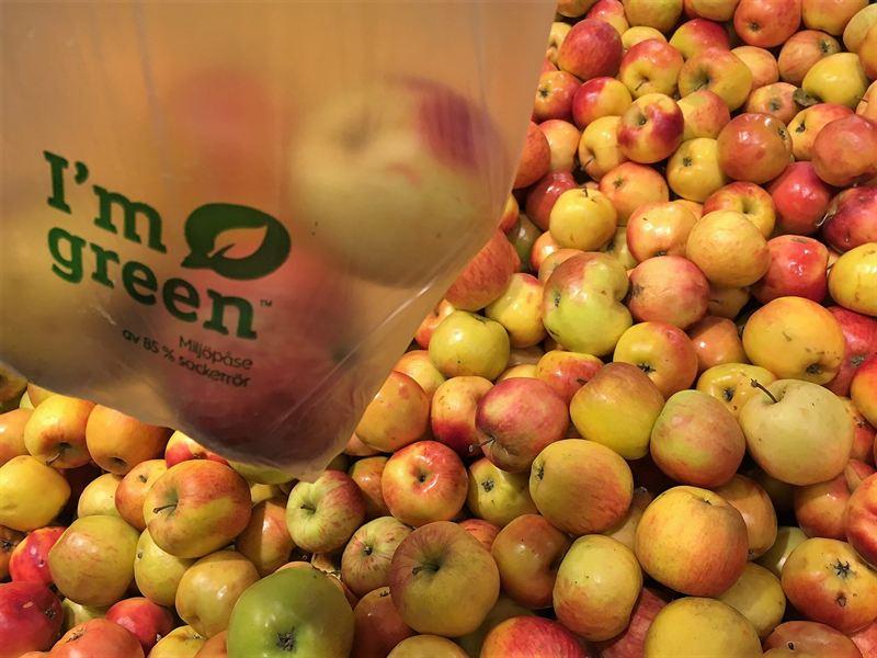 Grön fruktpåse 1