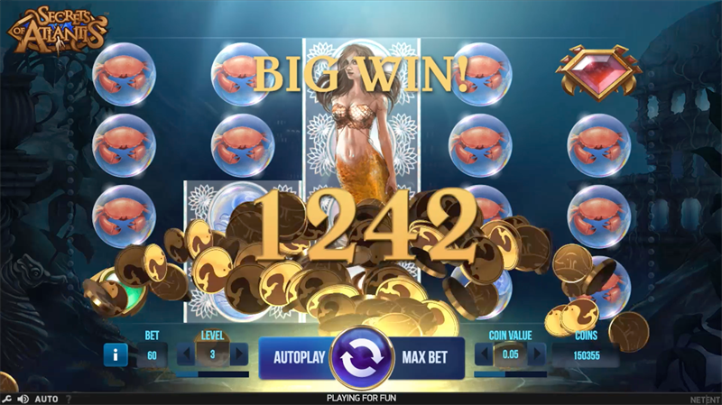 screenshot secrets of atlantis big win