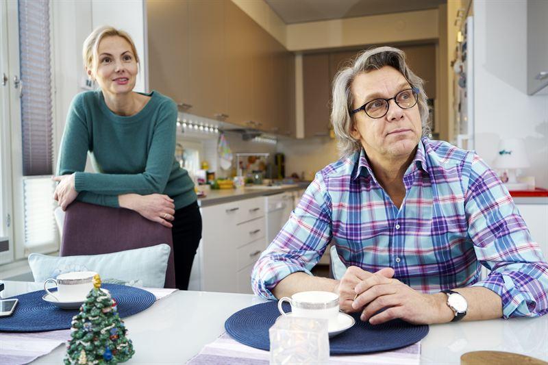 YIT Kodissa Helsingin Vuosaaressa asuvat Jekaterina Prokofjeva ja Jevgeni Prokofjev.jpg