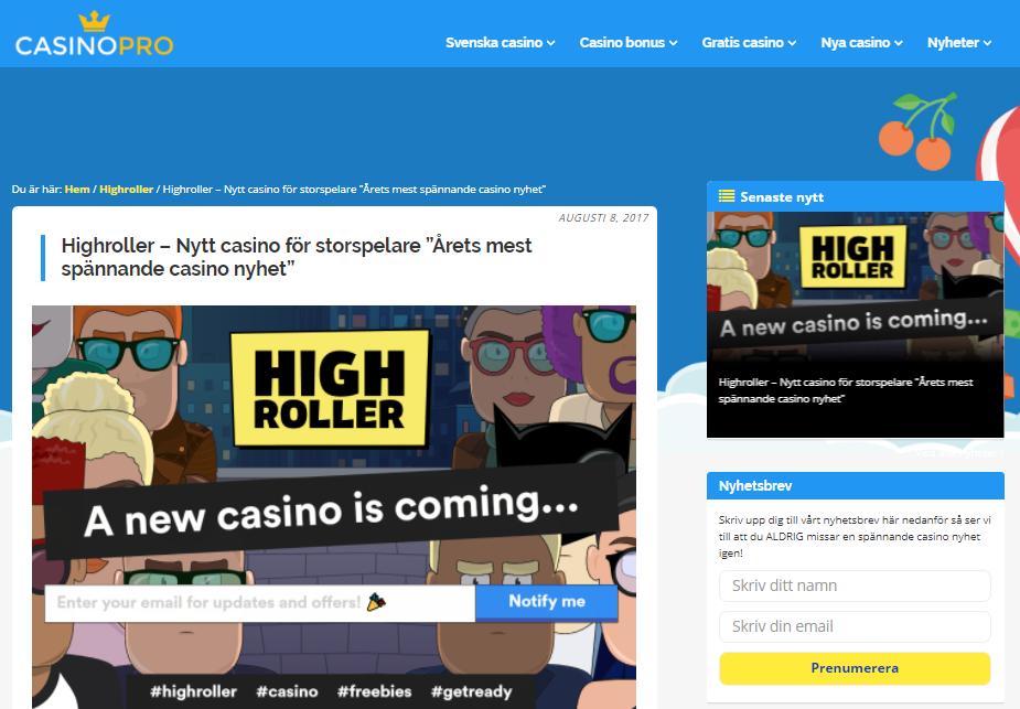 Breakit - Online casino för storspelare är den nya nichen