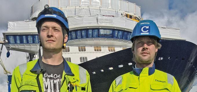 Jere Aaltonen (li.) und Pekka Järvinen © Caverion