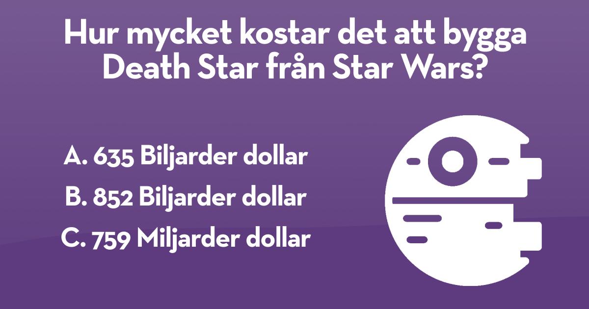 Insplanet - Hur mycket kostar det att bygga Death Star från Star Wars