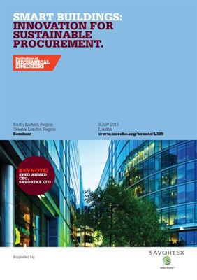 SAVORTEX ImechE Smart Buildings Sustainable Procurement