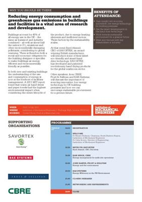 SAVORTEX ImechE Smart Buildings Sustainable Procurement 1