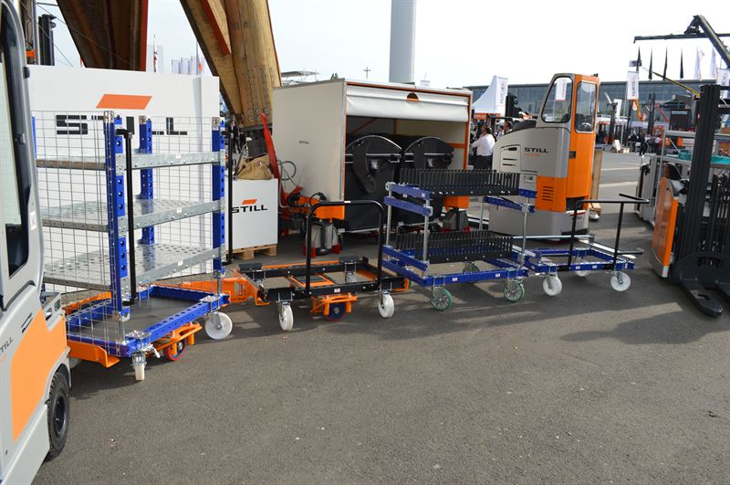 FlexQube and STILL GmbH Liftrunner E-frame system at CeMAT