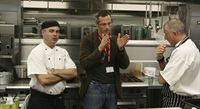 Teddington School chef Phil Wilkins with Phil Howard and Cucina Exec. Chef Ian Morgan
