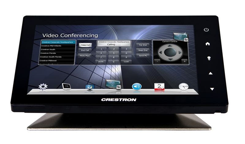 New Crestron Touch Panel Creates Elegant Statement