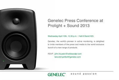 Press invitation ProLight Sound 2013