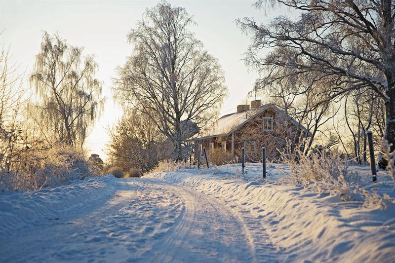 Hus vinter
