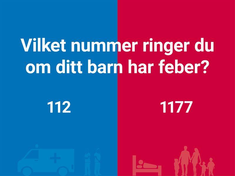 Vet du när du ska ringa nödnumret 112 och när du ska ringa 1177 Vårdguiden?  Kunskapen och kännedomen om de nationella nöd- och hjälpnumren är generellt  sett ...