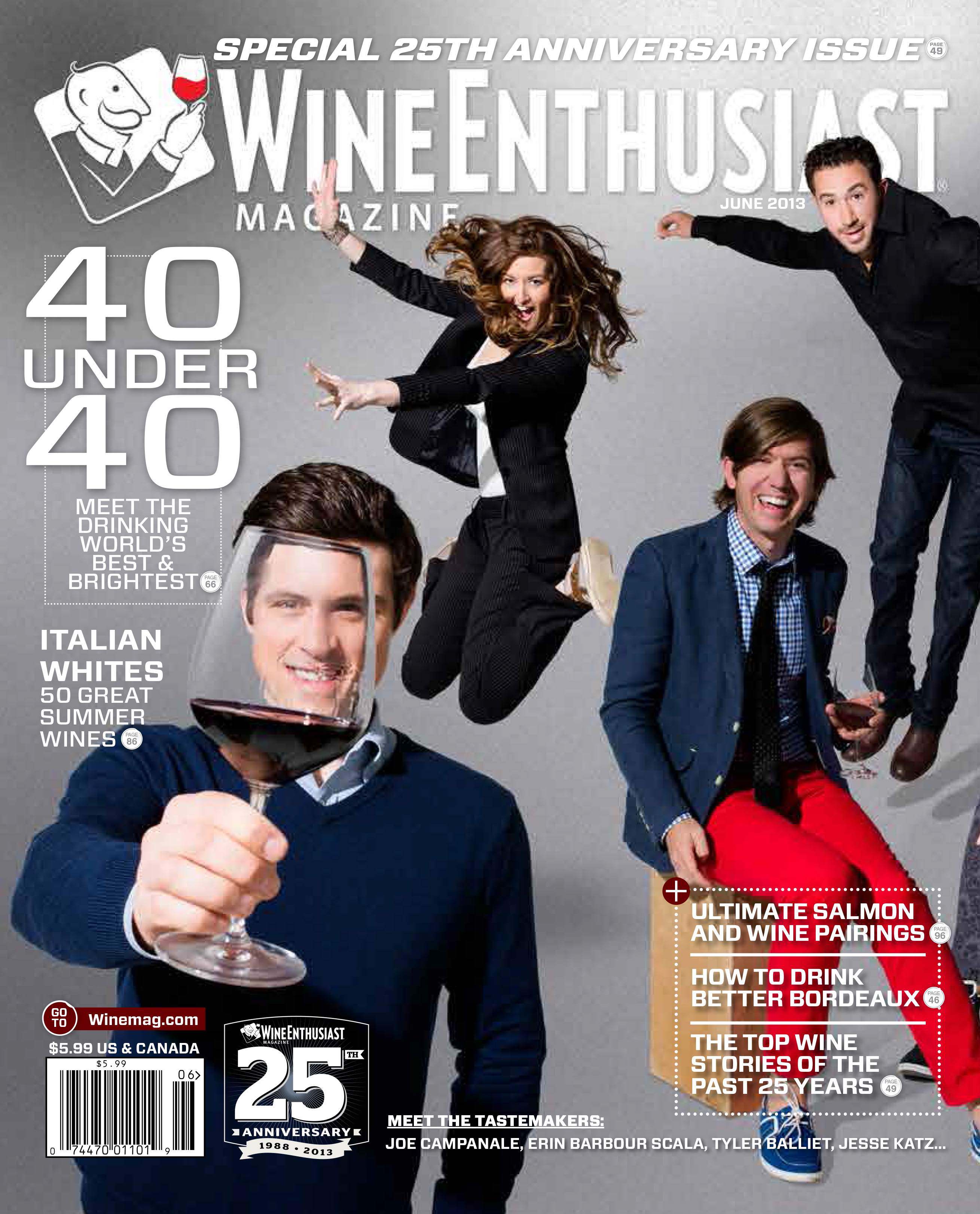 Wine enthusiast 39 s 25th anniversary issue cover wine for Anniversary magazine