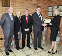 w0201an -Texcel present Supplier award to Anglia
