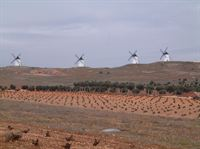windmills winter La Mancha