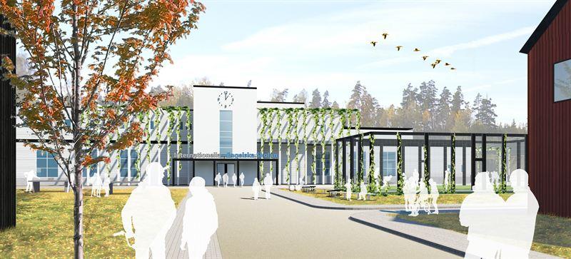 NCC bygger Umeås första Engelska skola. Illustration AQ Arkitekter