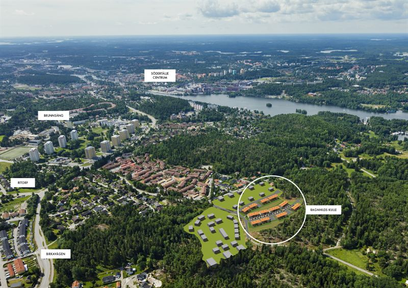 Ragnhilds kulle flygfoto markeringar