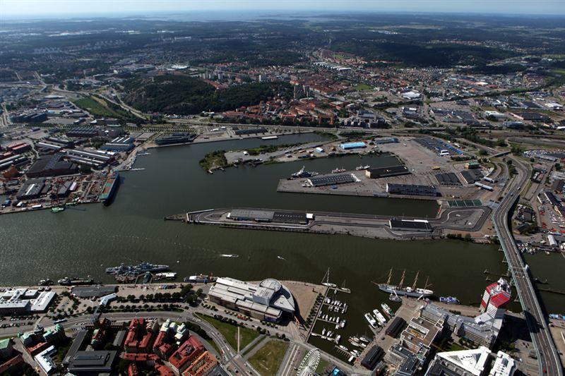 Frihamnen i Göteborg blir ny stadsdel: Foto: Flygare Palmnäs