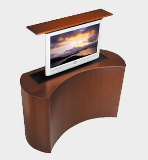 dazzle business guests with pop-up tv furniture from cabinet