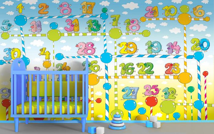 Wallpaper murals help children process educational for Educational mural