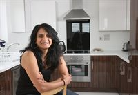 Nirupa Gardner in her new apartment at Brenley Park in Mitcham where one and two bedroom apartments are available at prices from 159,995. Contact 0208 648 5181.