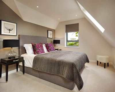 The stunning master suite in the showhome at The Rise SE19 by Astral Homes