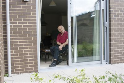 Tony Duffy in his new adapted home from Affinity Sutton