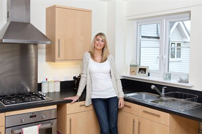 Laura Harvey in her new Affinity Sutton home - hi res
