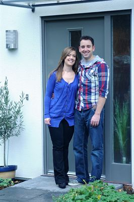 Sarah and Nick in their new home at Graylingwell Park in Chichester For information call Affinity Sutton on 0300 100 0303 or visit www affinitysutton com