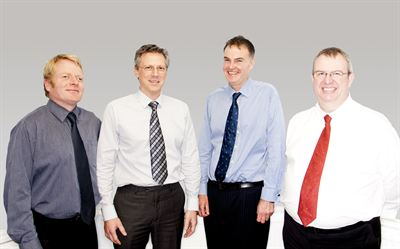 Thomasons L-R Fraser Robb Rob Barnes Paul Jarvis and David Manion
